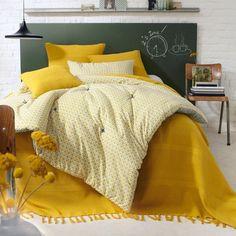 Quarto - Coberta de cama com franjas
