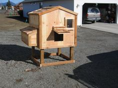 A CUTE little chicken coop, for Ashley.