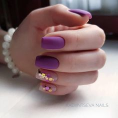 Looking for easy nail art ideas for short nails? Look no further here are are quick and easy nail art ideas for short nails. Purple Nail Designs, Acrylic Nail Designs, Nail Art Designs, Nails Design, Acrylic Nails, Matte Nails, Gradient Nails, Holographic Nails, Stiletto Nails