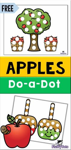 FREE Apple Do-a-Dot Printables | Dot printables has always been a favorite among my children.   You can use dot markers or dot stickers for this activity.   Grab this NO PREP printables for your exciting Fall learning!  #doadot #freeprintables
