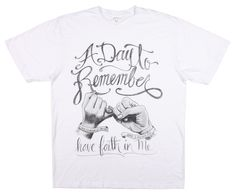 A Day To Remember Shirt Have Faith In Me T-Shirt Rock Band Music