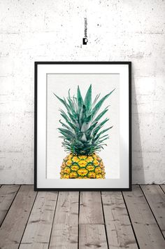 Pineapple Wall Art, Pineapple Print Art, Tropical Fruit Wall Art, Modern Kitchen Wall Decor, Pineapple Poster, Digital Download Art  ❤ Enjoy 30% saving when you purchase 3 or more prints, enter code SAVE30 at checkout.  IF YOU NEED A SPECIFIC SIZE, please request a custom order and I will gladly do it for you :) There is no extra cost!  ++++++++++++++++++ YOU WILL RECEIVE: 4 JPG high quality digital files (RGB) ready for printing {Resolution: 300 dpi} and 1 Instruction sheet. ► 2:3 ratio…
