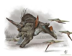 This male Crepidual has unfortunately stumbled across a pack of ravenous spear prods.