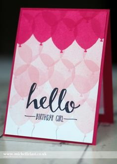Balloon Celebration from Stampin Up/Saleabration - with Michelle Last