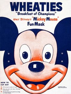 Wheaties 1950 featuring Mickey Mouse