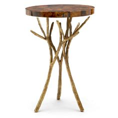 A beautiful bramble of gold branches form the base of the Tressa table. You can select any one of our 26 top finishes and make a piece that is one-of-a-kind. Make it your own!