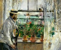 Eugene Manet on the Isle of Wight 1875 - Berthe Morisot - (French: 1841-1895)
