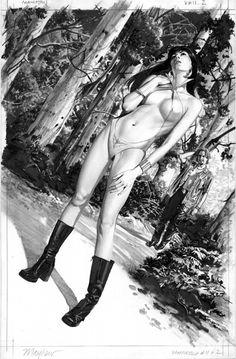 Mike Mayhew Original Vampirella 11 Page 2 Comic Art