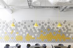 Codesign felt wall treatment - great idea for acoustical paneling