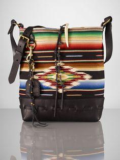 Serape Messenger Bag - Ralph Lauren Handbags This is deff on my wish list. i am inlove with this bag! Ralph Lauren Love, Ralph Lauren Bags, Ralph Lauren Handbags, Beautiful Handbags, Beautiful Bags, Boho Bags, Ralph Lauren Collection, Summer Bags, Tote Handbags
