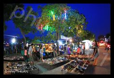 Phuket Weekend Market is the name given by tourists to this overgrown Phuket town night bazaar, while Thai call it 'Talad Tairod', which literally means 'Car Boot Sale'. 'Chaofa Variety Market' seems to be the official name written on some signs, and 'Phuket Chatuchak' is also used, by reference to the giant week end market in Bangkok.