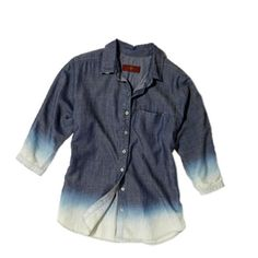 APRIL: Another way to distress your denim? bleach it ombre like this shirt from 7 for All Mankind.