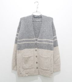 Boyfriend Cardigan in Natural Slate ($555.00). Call 1.877.342.6474 to order!