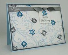 flower pearl card happy birthday