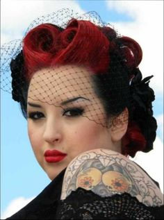 Pin up hairstyles for short hair tutorial