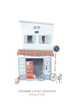 A collection of many and many interesting houses in Ho Chi Minh, Sai gon and Ha Noi, VietnamVietnam Little Quarter was followed with Vietnam Street Carts we had recently published 3 months agoby Kín Illustration