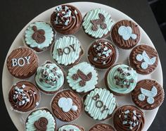 Tonight is a friend's baby shower and I am bringing cupcakes!      These were are my simple cupcake recipe from a previous post,  but with ...