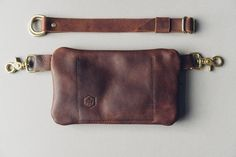 hustle & hide // zipper festival leather pack