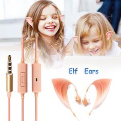 3.5Mm Elf Ears Earphones Headset Cosplay Spirit Fairy Hifi Earbuds Gift Lot