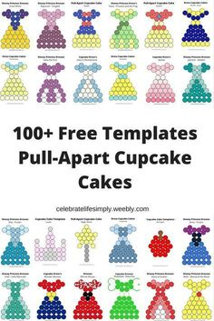 Over 100 Free Pull-Apart Cupcake Cake Templates Cupcake Template, Cake Templates, Pull Apart Cupcake Cake, Pull Apart Cake, Frozen Birthday, Birthday Cupcakes, Girl Birthday, Birthday Ideas, Cupcake Torte