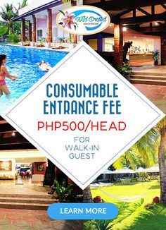 Wild Orchid Beach Resort, Subic Bay Consumable Entrance Fee Consumable Entrance Fee PHP500/Head for walk-in guest.  You may enjoy using our Swimming Pool & Billiard Pool From 8AM to 10PM ONLY.  For Details, Contact Us At: 047-223-1029 | 0917-512-3029 www.wildorchidsubic.com groupbookings.wildorchidsubic@gmail.com|bookings@wildorchidsubic.com  Learn More: http://wildorchidsubic.com/promos.html