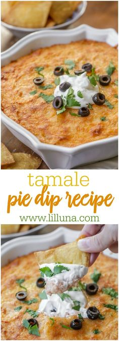 French Delicacies Essentials - Some Uncomplicated Strategies For Newbies Tamale Pie Dip - This Cheesy Dip Is Going To Be A New Favorite At Any Gathering Filled With Shredded Chicken, Creamed Corn, Cream Cheese, Mexican Cheese, And Sour Cream Appetizer Dips, Yummy Appetizers, Appetizer Recipes, Dinner Recipes, Mexican Appetizers, Italian Appetizers, Potluck Recipes, Party Recipes, Party Snacks
