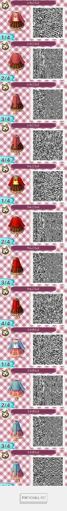 Strawberries and apples and a cat and a rabbit! Cardigan + skirt