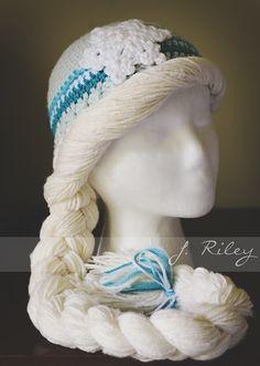 Crochet Elsa Hat ~ Inspiration Photo Only
