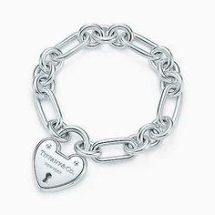 Lucchetto a cuore Tiffany Locks in argento, medio.