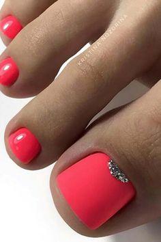 Bright Toe Nails, Gold Toe Nails, Summery Nails, Matte Pink Nails, Camo Nails, Pretty Toe Nails, Summer Toe Nails, Cute Toe Nails, Feet Nails