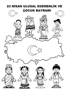 Okulöncesi 23 Nisan Etkinlikleri - New Deko Sites Kindergarten Crafts, Preschool Art, Ramadan Activities, Preschool Activities, World Thinking Day, Cute Valentines Day Gifts, Child Day, Cartoon Kids, Drawing For Kids