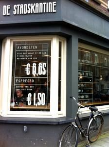 De Stadskantine - always at least one vegetarian option for lunch and dinner - Awesome Amsterdam