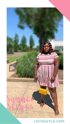 Transparent Heels, Yellow Purses, Summer Stripes, Summer Is Here, Mom Blogs, Women Empowerment, Striped Dress, Snug, Compliments