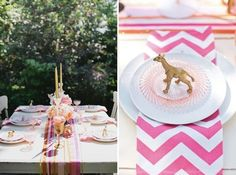 Gold Animal Plate Setting. DIY Gold Wedding Inspiration.