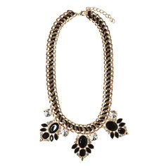 Wickedly Elegant Necklace - statement necklace, black and gold