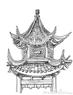 Architecture Drawing Lessons how to draw how the chinese pagoda stepstep. drawing tutorials