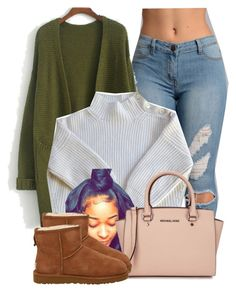 """Untitled #2796"" by alisha-caprise ❤ liked on Polyvore featuring Vanessa Bruno, Michael Kors and UGG Australia"