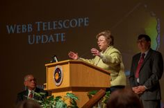 Maryland Senator Barbara Mikulski along with NASA Administrator Charles Bolden (seated, left) reviewed current efforts to prepare the James ...