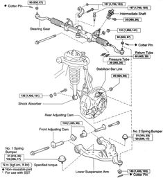 2002 toyota tundra front suspension diagram | Fig. Lower control arm and related components-4WD and PreRunner 2001 ...
