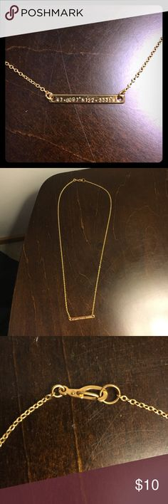 Etsy Seattle Coordinates Necklace Etsy Seattle Coordinates Necklace Gold Etsy Jewelry Necklaces