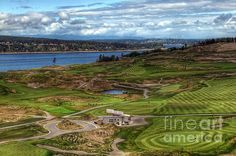 """May Serenity""......Long shot of Chambers Bay Golf Course taken from the Chambers Bay Grill patio on a lovely Spring morning."