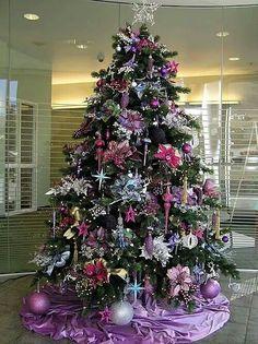 christmas tree purple and silver purple christmas tree christmas