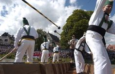 International Fishermen's Jousting Competition at Ulm, Germany, on the Danube River