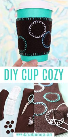 Looking for cute upcyling projects? Turn thrifted wool items into these cute DIY cup cozies! Find this easy DIY cup cozy tutorial, plus more fall craft ideas and felt crafts on the blog! Easy mug cozy idea - makes a sweet Teacher's Gift idea! Homemade gifts for friends, homemade gifts for mom, homemade gifts for teachers. Craft Projects For Adults, Diy Crafts For Adults, Adult Crafts, Crafts To Do, Yarn Crafts, Diy Projects, Craft Ideas, Homemade Gifts For Friends, Homemade Teacher Gifts
