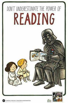 Bedtime in a Galaxy Far Far Away - Star Wars Poster - Ideas of Star Wars Poster - - Don't underestimate the power of reading Goodnight Darth Vader is coming to a galaxy near you July Library Posters, Reading Posters, Reading Themes, Reading Day, Reading Quotes, Library Books, Library Memes, Library Quotes, Bedtime Reading