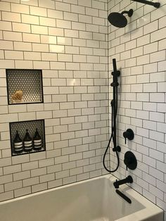 Beautiful master bathroom decor tips. Modern Farmhouse, Rustic Modern, Classic, light and airy bathroom design a few ideas. Bathroom makeover suggestions and bathroom renovation tips. Bad Inspiration, Bathroom Inspiration, Bathroom Ideas, Shower Ideas, Bathroom Designs, Bathroom Organization, Bath Tub Tile Ideas, Bathroom Inspo, Bath Tubs