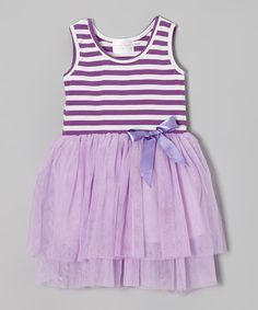 Loving this Lavender Stripe Bow Dress - Toddler & Girls #zulily #ad *so cute