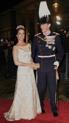 1 January 2018 | Prince Joachim and Princess Marie of Denmark arrive at Amalienborg Palace for the annual New Years reception in Copenhagen, Denmark.