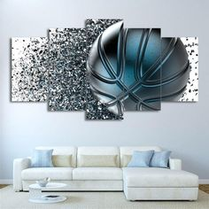 5 Piece Canvas Art, Abstract Canvas Wall Art, Canvas Frame, Canvas Canvas, Canvas Fabric, Canvas Prints, Silver Wall Art, Silver Walls, Picture Wall