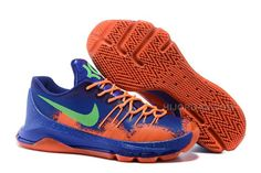 c61ca379bc75 New Sale Nike KD 8 Team Orange Royal Blue-Green